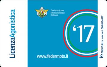 Tessera FMI Licenza Agonistica '17